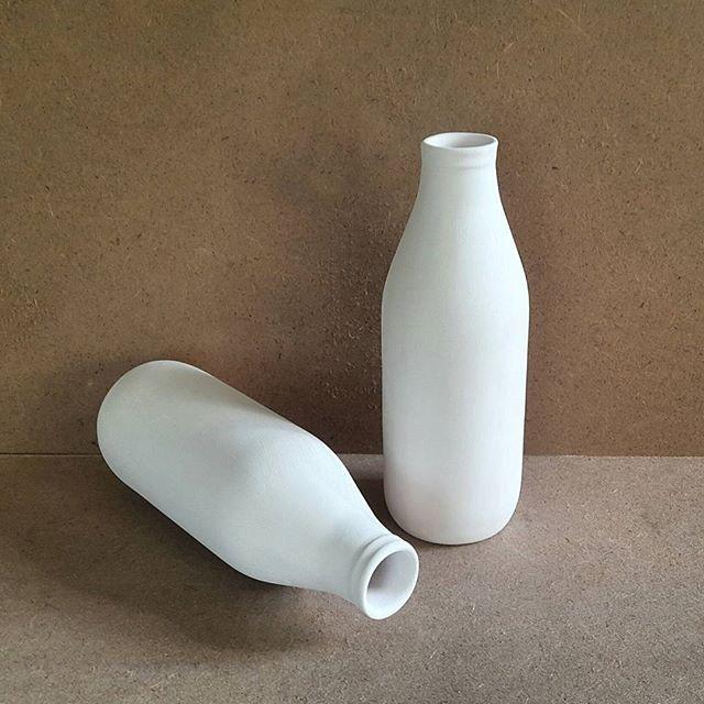 Seramik Boyama Objesi Süt şişesi 24 Cm
